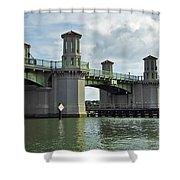Clouds Above The Bridge Of Lions Shower Curtain