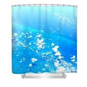 Clouds Above The Florida Keys Shower Curtain