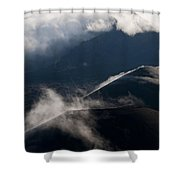 Clouds And Cinder Cones Shower Curtain
