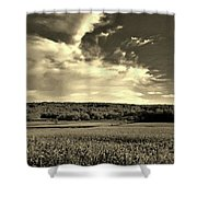 Clouds And Cornfields Shower Curtain