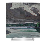 Clouds And Drizzle Shower Curtain