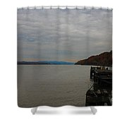 Clouds And Fall Shower Curtain