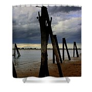Clouds And Iron Pillars Shower Curtain