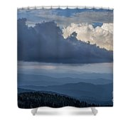 Clouds And Mountain Range Shower Curtain