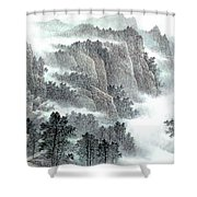 Clouds And Mountains Shower Curtain