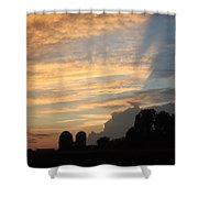 Clouds And Silos  Shower Curtain