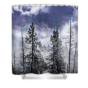 Clouds And Snow Swirling Shower Curtain