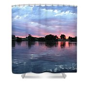 Clouds And Sunset Reflection In Prosser Shower Curtain