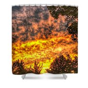 Clouds And Sunset  Shower Curtain