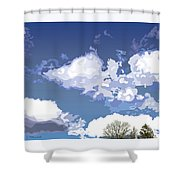 Blue Afternoon Shower Curtain
