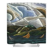 Clouds And Water Shower Curtain