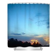 Clouds Arch Over Sunset Shower Curtain