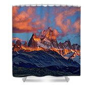 Clouds Around Fitz Roy - Patagonia Shower Curtain