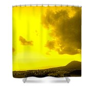 Clouds At Sunset Over Basseterre Shower Curtain