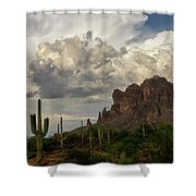 Clouds Bubbling Over The Superstitions  Shower Curtain