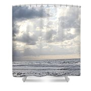 Clouds By The Sea Shower Curtain