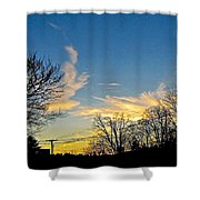 Clouds Dancing To The Sunset Light Shower Curtain