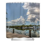 Clouds Down The Bay Shower Curtain