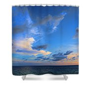 Clouds Drifting Over The Ocean Shower Curtain