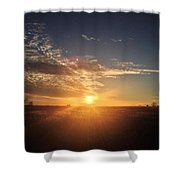 Clouds During Sunset Shower Curtain
