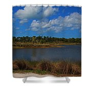 Clouds Gather Shower Curtain