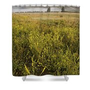 Clouds Hang Over The Rio Grande River Shower Curtain