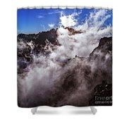 Clouds In The Caldera De Taburiente Shower Curtain