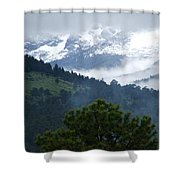 Clouds In The Rockies Shower Curtain