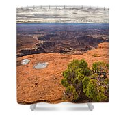 Clouds Junipers And Potholes Shower Curtain