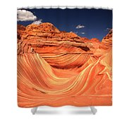 Clouds Kissing The Wave Shower Curtain