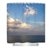 Clouds Meet Ocean Shower Curtain