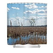 Clouds Of Cotton Shower Curtain