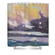 Clouds Of Mt Hood Shower Curtain