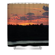 Clouds On Fire - Thousand Island Sunset -  Shower Curtain