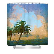 Clouds On The Loop Shower Curtain