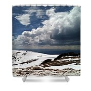 Clouds On The Mountain Shower Curtain