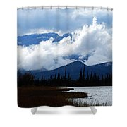 Clouds On The Mountains Shower Curtain