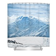 Clouds On The Top Of The Ridge Shower Curtain