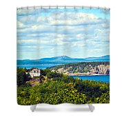 Clouds Over Acadia Shower Curtain