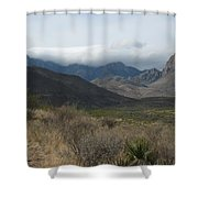 Clouds Over Big Bend Shower Curtain