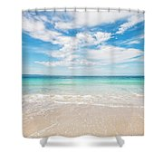 Clouds Over Blue Sea Shower Curtain