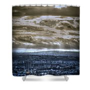 Clouds Over Bristol Hdr Split Toning Shower Curtain