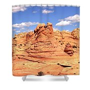 Clouds Over Candyland Shower Curtain