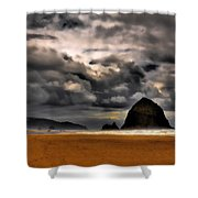 Clouds Over Cannon Beach Shower Curtain
