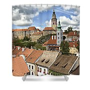 Clouds Over Cesky Krumlov Shower Curtain