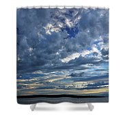 Clouds Over English Bay From Sunset Beach Vancouver Shower Curtain