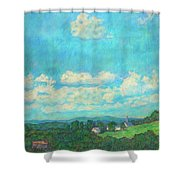 Clouds Over Fairlawn Shower Curtain