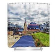Clouds Over Gillette Stadium Shower Curtain