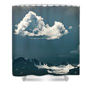 Clouds Over Glacier, Banff Np Shower Curtain