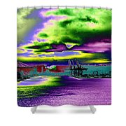 Clouds Over Harbor Island Shower Curtain